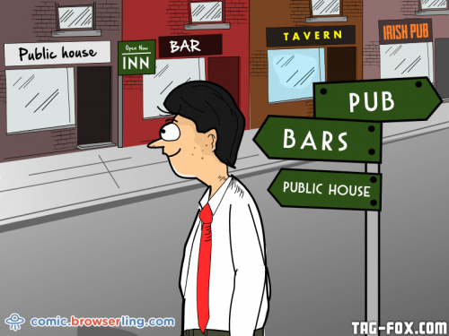 An SEO expert walks into a bar, bars, pub, inn, tavern, public house, Irish pub, drink, drinks, beer, alcohol...  For more nerd humor and geek humor visit our programming comic at https://comic.browserling.com. New jokes, cartoons and comics about programmers every week!