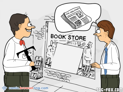 We sent a web developer to the store to get The Times newspaper. He came back with The Times New Roman.  For more nerd humor and geek humor visit our programming comic at https://comic.browserling.com. New jokes, cartoons and comics about programmers every week!