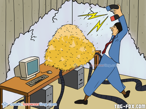 Webapp debugging is the art of extracting the needles from the haystack.  For more nerd humor and geek humor visit our programming comic at https://comic.browserling.com. New jokes, cartoons and comics about programmers every week!
