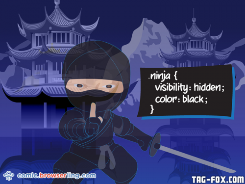 .ninja { visibility: hidden; color: black; }  For more nerd humor and geek humor visit our programming comic at https://comic.browserling.com. New jokes, cartoons and comics about programmers every week!
