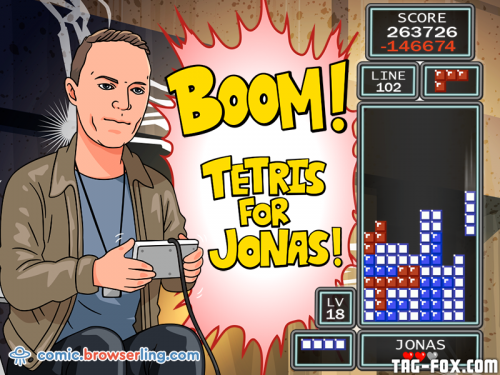 Boom! Tetris for Jeff!  For more nerd humor and geek humor visit our programming comic at https://comic.browserling.com. New jokes, cartoons and comics about programmers every week!